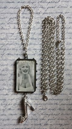 Marilyn Monroe Necklace / Ornament  Large by BezelsandBeyond