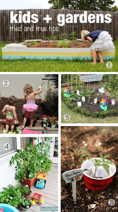 Modern Parents Messy Kids: Natural Play Spaces: Children's Veggie Gardens (good round-up of sources!)
