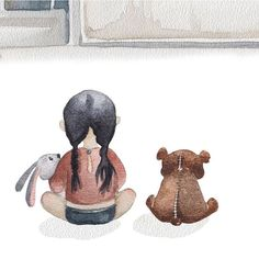687 отметок «Нравится», 7 комментариев — #dziewczynasołtysa (@dori_sue) в Instagram: «#artist: @vskafandre #bestoftheday #graphic #print #pic #picture #picoftheday #image #instaart…» Painting For Kids, Art For Kids, Art Children, Daddy Daughter Photos, Illustrations, Illustration Art, Papi, Watercolor Drawing, Art Background