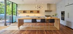 San Francisco Street Residence by Schwartz and Architecture - Kitchen - Home Decorating Trends - Homedit Home Design, Interior Design, Gable House, Formal Dining Tables, Light Hardwood Floors, Dark Hardwood, San Francisco Houses, Ideas Hogar, Storey Homes