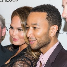 NEW YORK, NY - JULY 28:  Model Chrissy Teigen (L) and musician John Legend attend the DuJour celebration of cover star Chrissy Teigen at NYY Steak Manhattan on July 28, 2014 in New York City.  (Photo by Michael Stewart/WireImage) via @AOL_Lifestyle Read more: http://www.aol.com/article/2016/05/09/chrissy-teigen-is-now-getting-hate-for-looking-too-good-as-a-new/21374043/?a_dgi=aolshare_pinterest#fullscreen