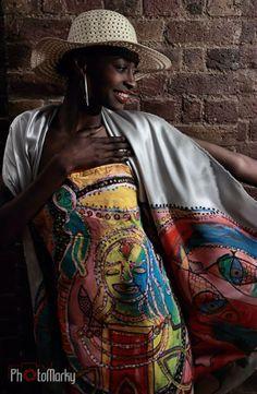 Fashion Designer/Artist  Erwin Michalec Model Sandra Gondora Miss Congo UK 2012 Beauty Pageant of the year 2012 BEFFTA Photo Marek Miszczak