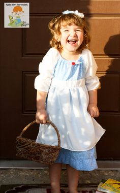 Belle's Provincial Blue Apron Dress- Disney Princess. $44.00, via Etsy.  Happy Birthday Bug lol