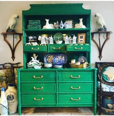 Ethnic decor and furnishings Painted Furniture, Expensive Furniture, Furniture Rehab, Faux Bamboo, China Cabinet Redo, Redo Cabinets, Furniture Makeover, Beautiful Furniture, Bamboo Furniture Diy