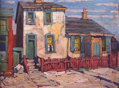۩۩ Painting the Town ۩۩ city, town, village & house art - House in the Ward, Lawren S. Harris, Group of Seven Tom Thomson, Emily Carr, Group Of Seven Artists, Group Of Seven Paintings, Canadian Painters, Canadian Artists, Landscape Art, Landscape Paintings, Mary Cassatt