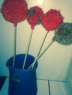 Floreros de Pimpones para centros de mesa