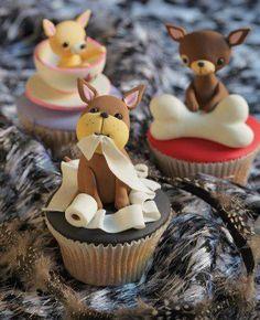 Cupcakes and Chihuahuas.Cupcakes and Chihuahuas. Cupcakes Fondant, Puppy Cupcakes, Animal Cupcakes, Fondant Baby, Deco Cupcake, Cupcake Art, Cupcake Cookies, Cupcake Ideas, Fancy Cakes