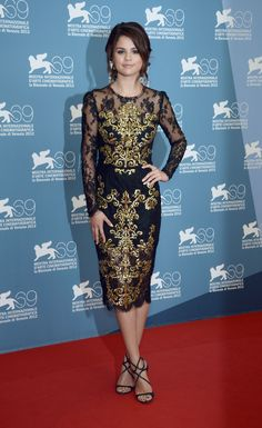 """Actress Selena Gomez in #dolcegabbana attends """"Spring Breakers"""" Photocall during The 69th Venice Film Festival"""