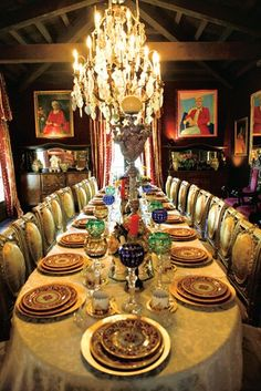 liberace, dining room, palm springs