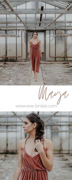 Brautjungfern Outfit aus Samt, Bridesmaid Jumpsuit, Einteiler aus Samt  /Fotos: www.annaenya.com