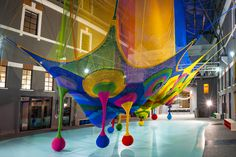 At MACRO the Japanese artist Toshiko Horiuchi MacAdam has set up Harmonic Motion / Rete dei draghi, the site specific installation for the s...