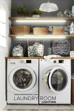 So choose the best washing machine and the best dryer - Room Design Small Laundry Rooms, Laundry Room Design, Design Kitchen, Best Dryer, Laundry Room Lighting, Home Decoracion, Laundry Room Inspiration, Ideas Para Organizar, Laundry Room Organization