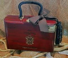 Your place to buy and sell all things handmade Cigar Box Projects, Cigar Box Crafts, Crafts To Do, Diy Craft Projects, Diy Crafts, Craft Ideas, Gag Gifts, Funny Gifts, Cigar Box Purse
