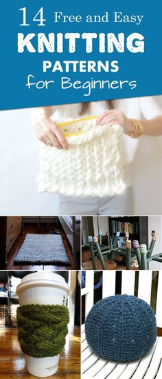 "diytotry: ""  14 Free and Easy Knitting Patterns for Beginners → "" #knittingprojects"