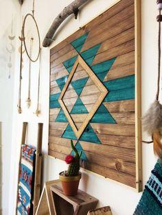 Reclaimed Wood Wall Art Southwestern Art by RoamingRootsWoodwork