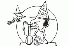 Snoopy Halloween Coloring Pages: 9 Treasured Sheets for you! Scary Halloween Coloring Pages, Scary Halloween Crafts, Halloween Coloring Pages Printable, Witch Coloring Pages, Snoopy Halloween, Snoopy Christmas, Disney Coloring Pages, Christmas Coloring Pages, Coloring Pages To Print