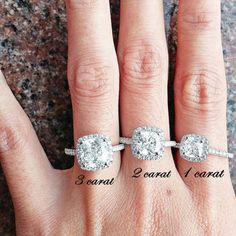 Tiffany Inspired 3 Ct Cushion Cut Halo Engagement / Promise Ring in 925 Silver man made diamond pave band, lab made diamond ( FairyParadise)