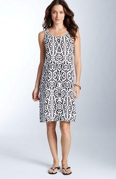 Printed linen tank dress | www.jjill.com