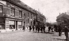 Rue de la  station a seraing ,a droite la passerelle