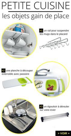 """Les objets """"gain de place"""" indispensables pour une petite cuisine ! http://www.homelisty.com/objets-gain-de-place-petite-cuisine/"""