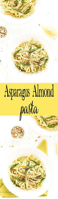This asparagus almond pasta is simple, requiring just six ingredients and 15 minutes! Perfect for a quick and tasty weeknight meal. via @easyasapplepie