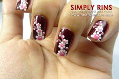 Up With Flowers Nail Art Design