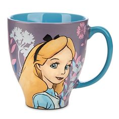 Your morning cup with Alice will make your whole day seem like Wonderland. ALICE IN WONDERLAND CLASSIC SKETCH COFFEE MUG #Disney Disney Coffee Mugs, Disney Cups, Cute Cups, Disney Home, Disney Disney, Mad Hatter Tea, Cool Mugs, Disney Merchandise, Mug Cup