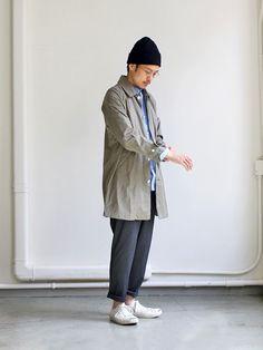 khaki trench coat mens japan - Google 搜尋 Japan Fashion, Daily Fashion, Men's Fashion, Khaki Trenchcoat, Trench Coat Outfit, Mens Trends, Looks Cool, Unisex Fashion, Minimalist Fashion