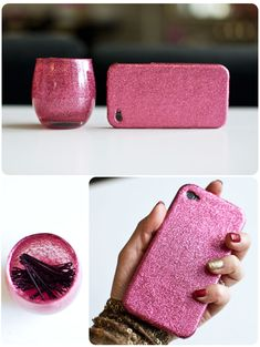 How to: GLITTER... Everything! (without it falling off)  Where has this been ALL my life?!
