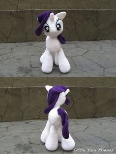Crochet Pattern: My Little Pony - Rarity (Cuddle-Size):