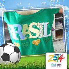 Mais uma para você fazer e torcer pelo Brasil! Simples, rápida de fazer e linda!