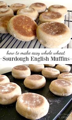 These whole wheat sourdough english muffins are surprisingly easy to make - and the taste is so far above store bought that it's worth the effort.
