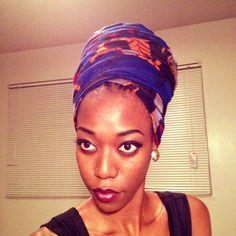 Queen Nefertiti head wrap tutorial