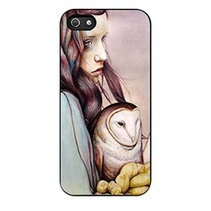 FR23-The Girl And The Owl Fit For iPhone 5/5S Case Hardplastic Back Protector Framed Black FR23 http://www.amazon.com/dp/B018RX23II/ref=cm_sw_r_pi_dp_48Lxwb1EXKXVJ