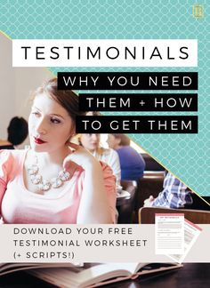 What if I was to tell you that there was an insanely powerful FREE marketing method that you could be using to grow your small business! That's right - Testimonials! Let me tell you why you need testimonials and how to get them! Click through to read all about it and download your FREE worksheet too! #testimonials #business #branding