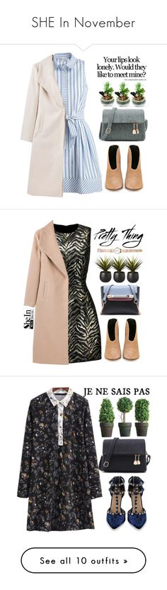 """""""SHE In November"""" by amilla-top ❤ liked on Polyvore featuring Milly, Roberto Cavalli, CB2, Valentino, Love Quotes Scarves, Acne Studios, shu uemura, James Perse, thumbsUp! and Marc Jacobs"""