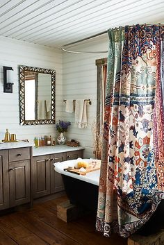 Anthropologie Risa Patterned Floral Shower Curtain - ShopStyle Home