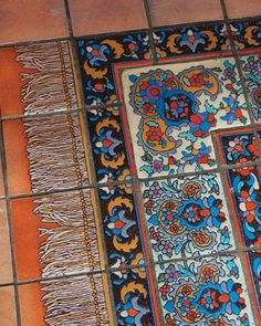 "Boho Persian-style tile ""carpet"" from the Adamson House"