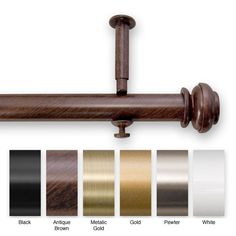 This metal curtain rod set offers a contemporary edge to your patio doors. Adjusting up to 240 when both rods are combined, it has a large projection to accommodate different trim sizes. The set comes in a variety of colors to match your tastes.