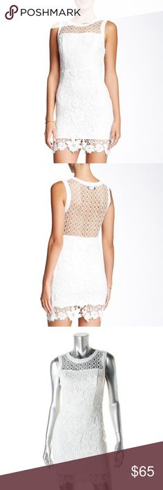 White Lace Bodycon Dress New with Tag. A white lace bodycon dress will give off this very sexy and chic vibe. Beautiful back design.  Perfect for this Spring season.  Take a classic approach with the footwear and choose a pair of mint leather pumps.  From Norstrom. ASTR Dresses
