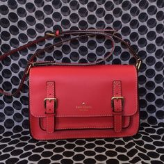 ❤️AUTHENTIC KATE SPADE SCOUT ESSEX CROSSBODY BAG❤️ ❤️GREAT VALENTINES DAY PRESENT❤️ Brand new with tags in the color SPRING RED.  This bag is gorgeous.  It has a magnetic flap closure, exterior pocket under the flap closure, 1 interior zip pocket, unlined leather.❤️❤️ TRADESPAYPAL ... kate spade Bags Crossbody Bags