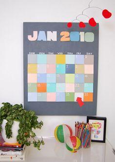 ... DIY calendario ...