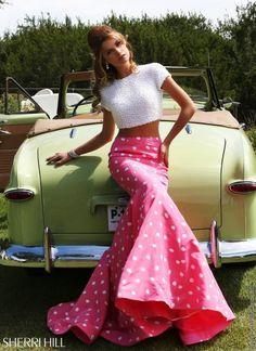 Pearl Crop Top Sherri Hill Dress 32226