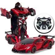 Best Choice Products Kids Toy Transformer RC Robot Car Remote Control Car - Red