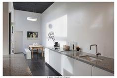 David&Goliath.eu cement tile black 20x20, kitchen top terrazzo
