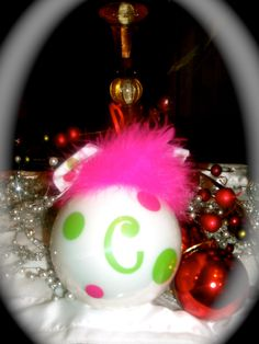 Personalized Christmas Ornament by dancenat on Etsy, $8.00