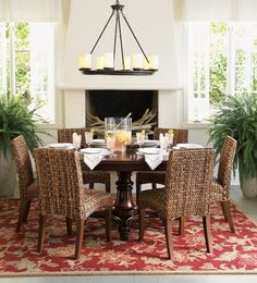 Pottery Barn Dining Room Tables | ... %20Table Montego : Expanding Round Dining Table from Pottery Barn