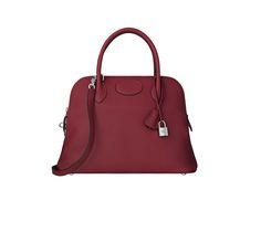 33e1365caa8a Bolide Hermes bag in ruby taurillon clemence leather Measures x x    Shoulder strap and hand strap. Silver and palladium plated hardware