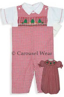 Carouselwear Infant Baby Boys Plaid Holiday Christmas Outfit Buttons on Shorts