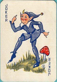 Joker Joker Playing Card, Joker Card, Playing Cards, Jokers Wild, Vintage Games, Old Postcards, Football Cards, Jouer, Deck Of Cards